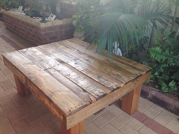 upcycled pallet homemade coffee table