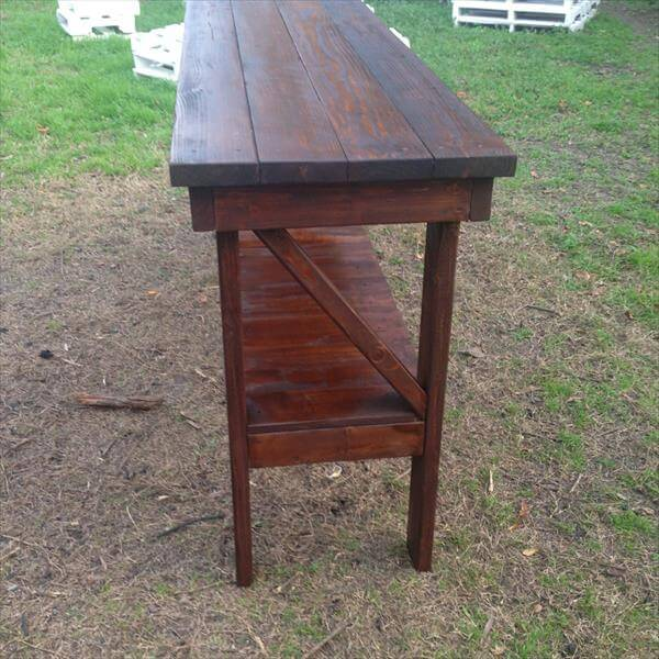 upcycled pallet farm house table