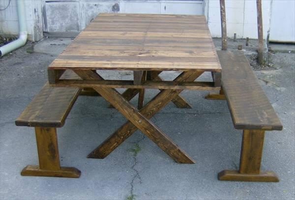 handmade pallet picnic coffee table