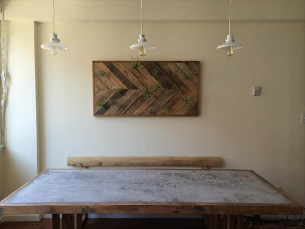 handmade pallet chevron wall art