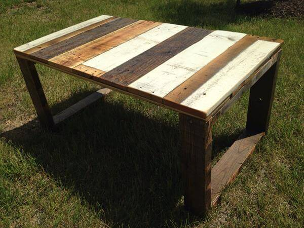 reclaimed pallet coffee table with box like flat legs