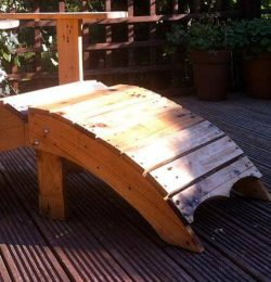 recycled pallet adirondack footstool