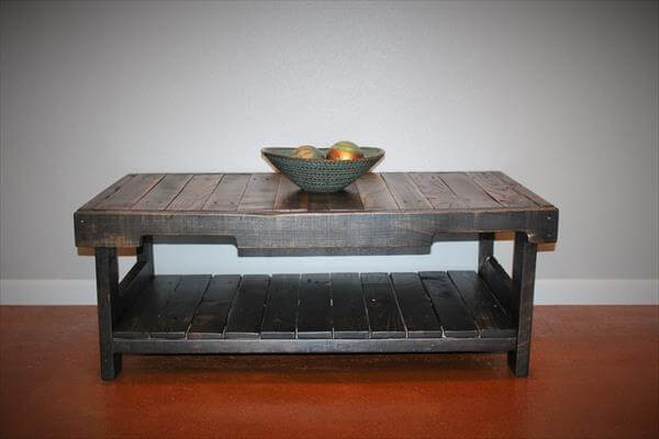 Upcycled Pallet Coffee Table Pallet Furniture Diy