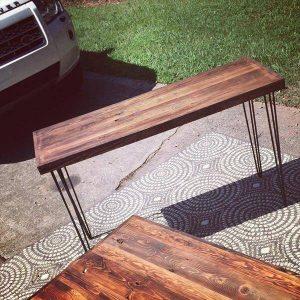 repurposed pallet sofa table