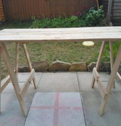 recycled pallet foldable table