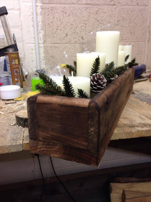 Diy pallet centerpiece box furniture