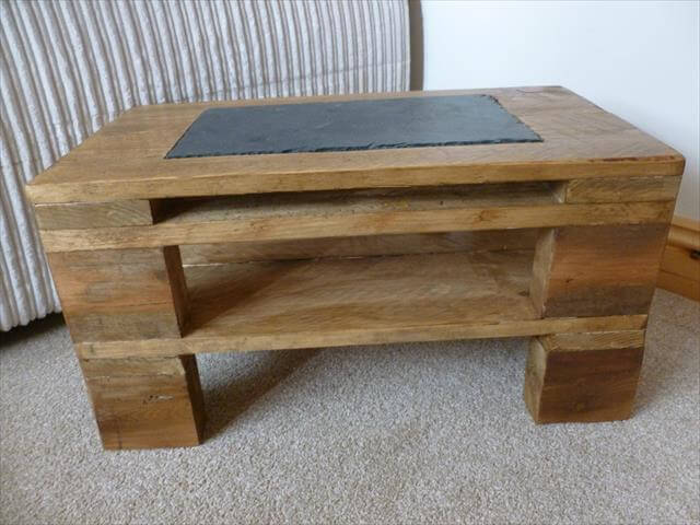 pallet made side table