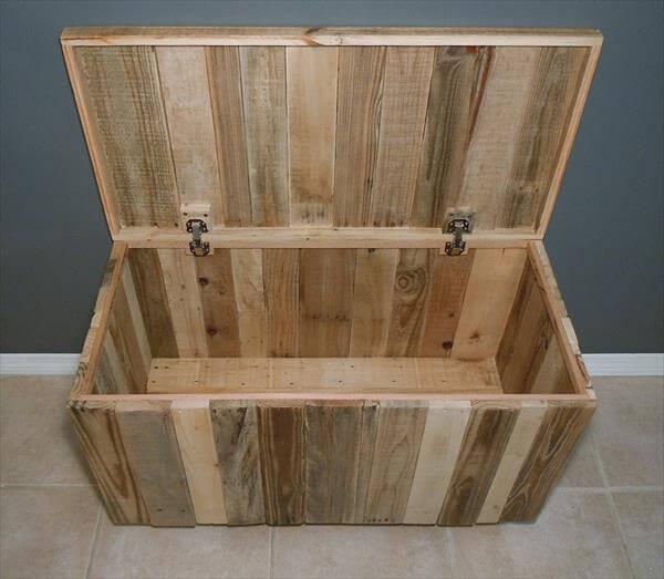 handmade pallet chest