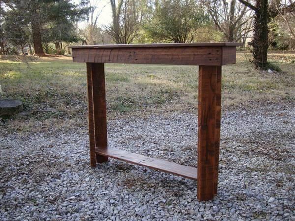 diy reclaimed pallet entryway table u2013 foyer table