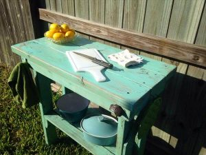 handmade pallet rustic kitchen island table