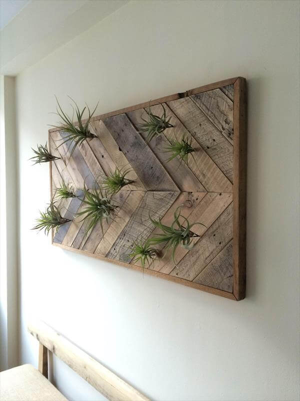 upcycled pallet chevron wall art