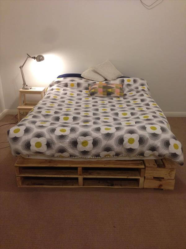 handmade pallet bed idea