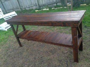 reclaimed pallet foyer table