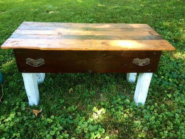 handmade pallet garden benches and coffee tables