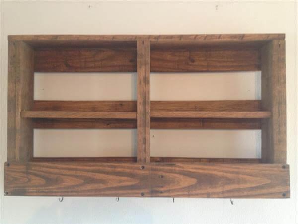 repurposed pallet coffee andl tea rack