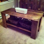 DIY Vintage Pallet Coffee Table with Storage