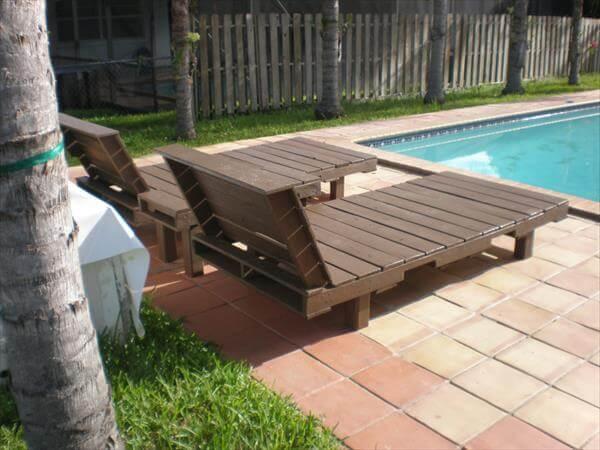 handmade pallet outdoor loungers