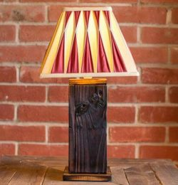 recycled pallet light lamp