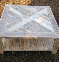 reclaimed pallet patterned top coffee table