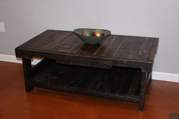 revamped pallet coffee table