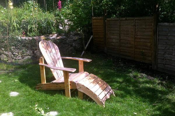 handmade pallet rustic adirondack footstool