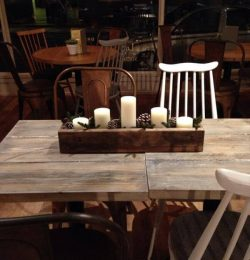 rustic pallet decorative table box