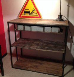 recycled pallet vintage cabinet shelves