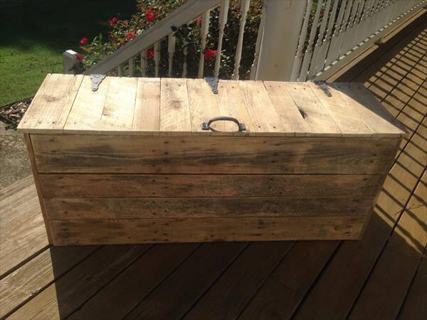 vintage pallet chest with name letters pallet treasure chest hop chest ...