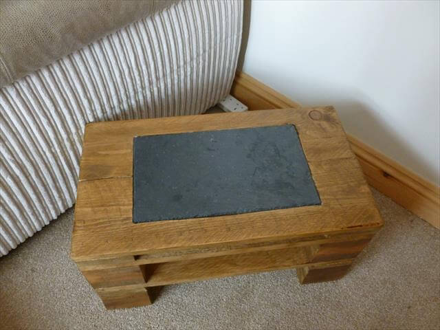 pallet wood side table