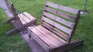 repurposed pallet adirondack styled benches and chairs