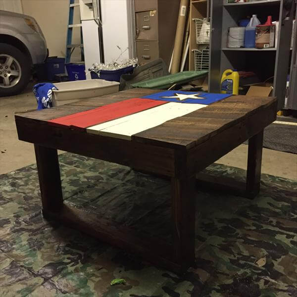 handmade pallet Texas coffee table