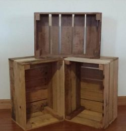 recycled pallet crate storage unit