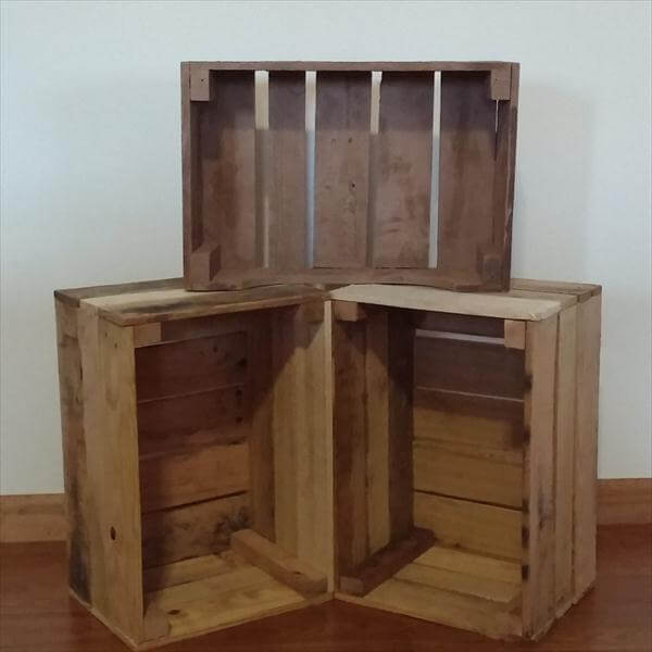 Nice DIY Pallet Wood Crate Storage Unit