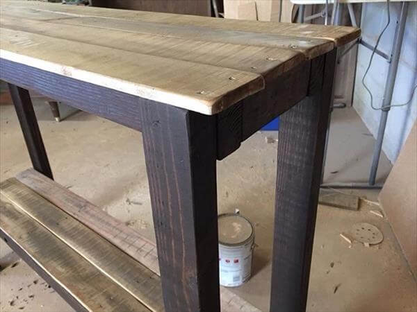 Pallet Sofa Table - Hall Table : Pallet Furniture DIY