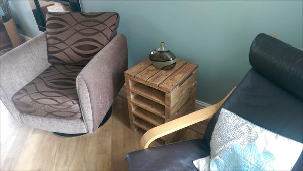 upcycled pallet rustic pallet side table
