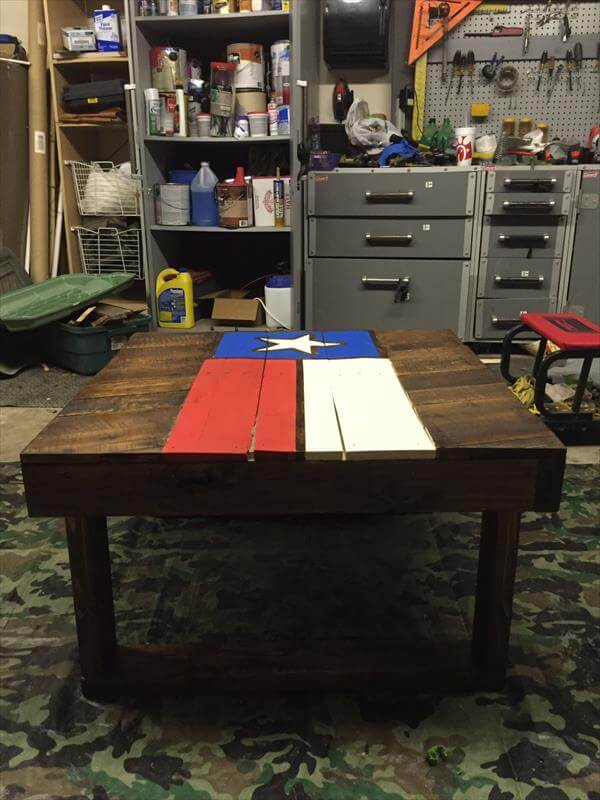 reclaimed pallet Texas coffee table