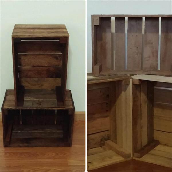 DIY Pallet Wood Crate Storage Unit | Pallet Furniture DIY