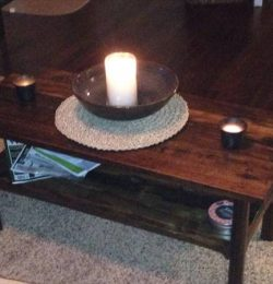 recycled pallet two tiered coffee table