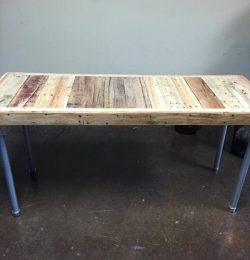 recycled pallet rustic desk