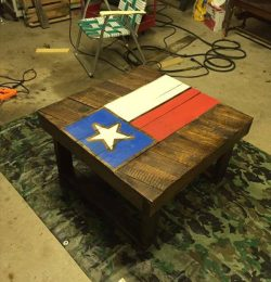 rustic pallet Texas coffee table
