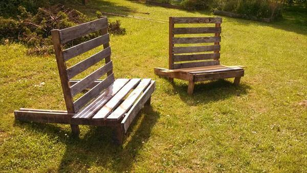 DIY Outdoor Pallet Chairs Pallet Loungers – Pallet Adirondack Chairs