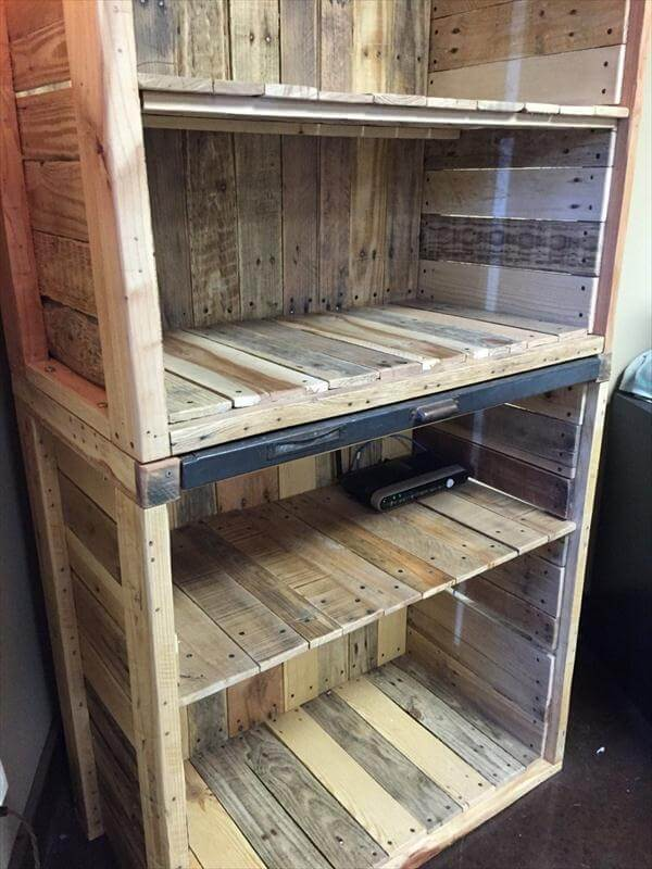 handcrafted pallet x-large bookcase