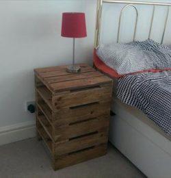 handmade pallet nightstand