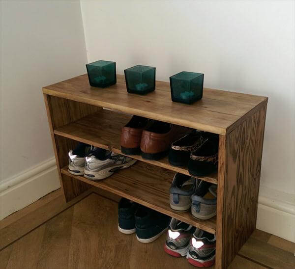 DIY Pallet Wood Shoe Rack | Pallet Furniture DIY