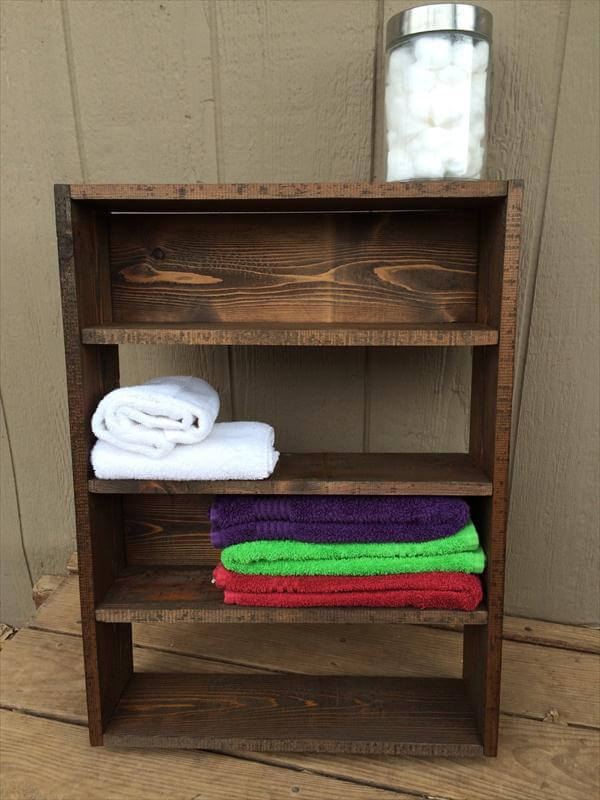 upcycled pallet wall hanging shelves