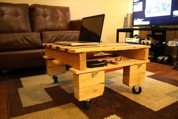 DIY Pallet Country Styled Mini Coffee Table Pallet Furniture DIY