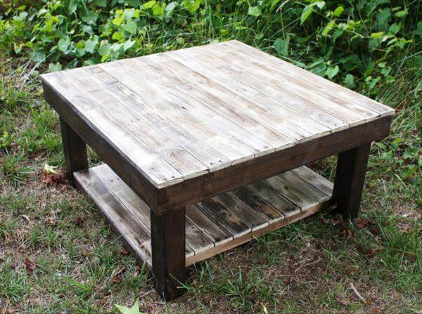 Diy Pallet Antique Styled Coffee Table Pallet Furniture Diy