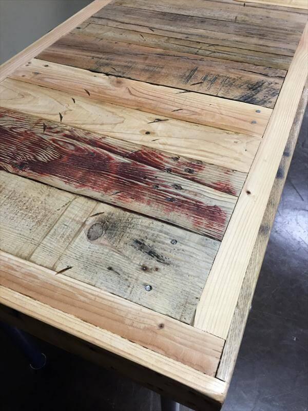 repurposed pallet industrial desk