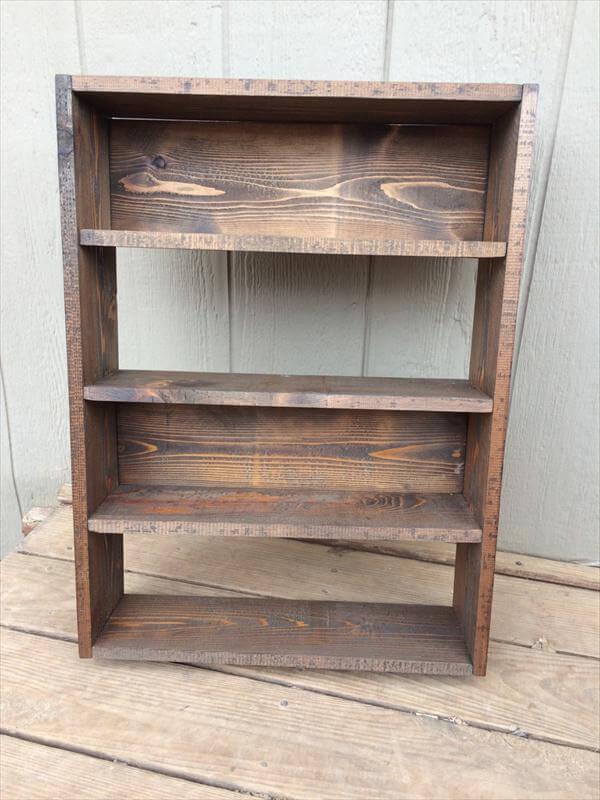 DIY Pallet Shelves – Storage Unit and Bookcase!! - DIY Pallet Shelves – Storage Unit And Bookcase!! Pallet