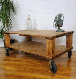 handcrafted pallet retro styled coffee table